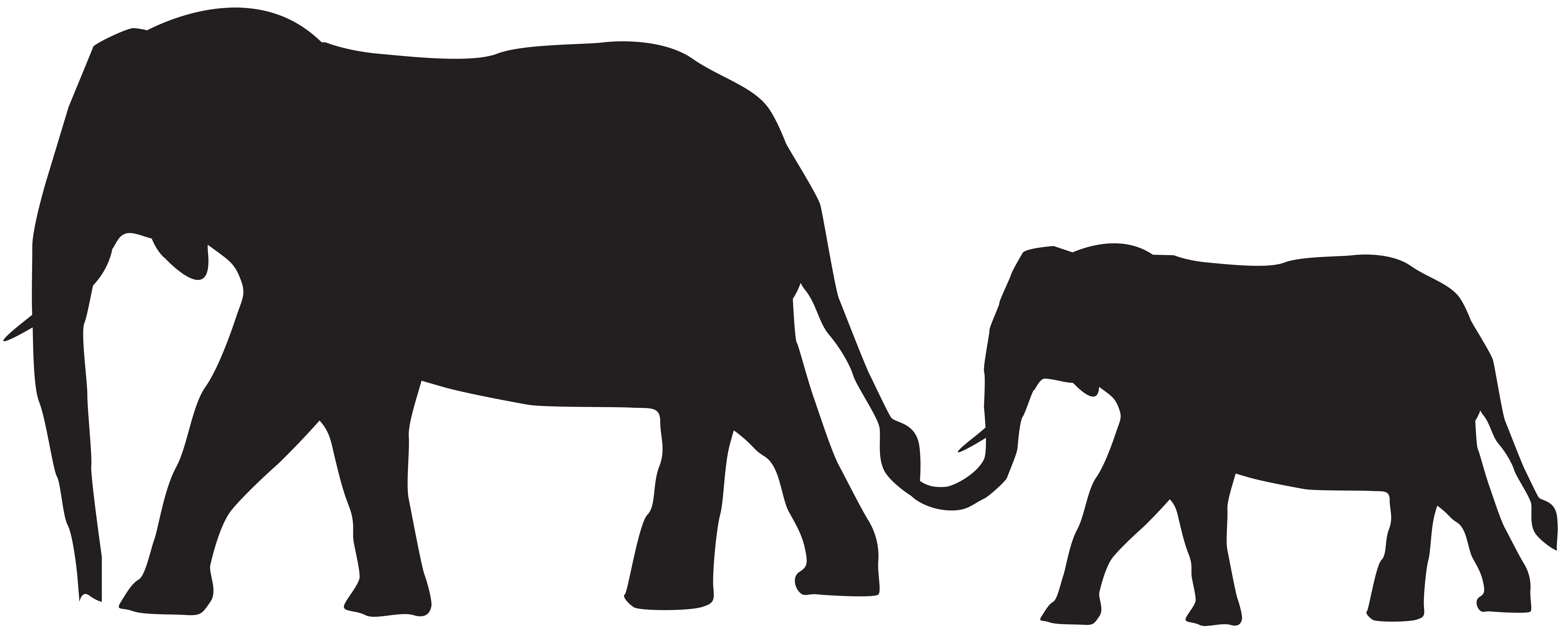 Mother And Baby Elephants Silhouette Png Clip Art Image Gallery Yopriceville High Quality Images And Transparent Png Free Clipart Vektor Ideer