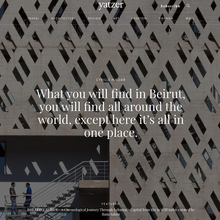 """""""#Yatzerquoteoftheday """"What you will find in Beirut, you will find all around the world, except here it's all in one place."""" #CyrilleNajjar /…"""""""