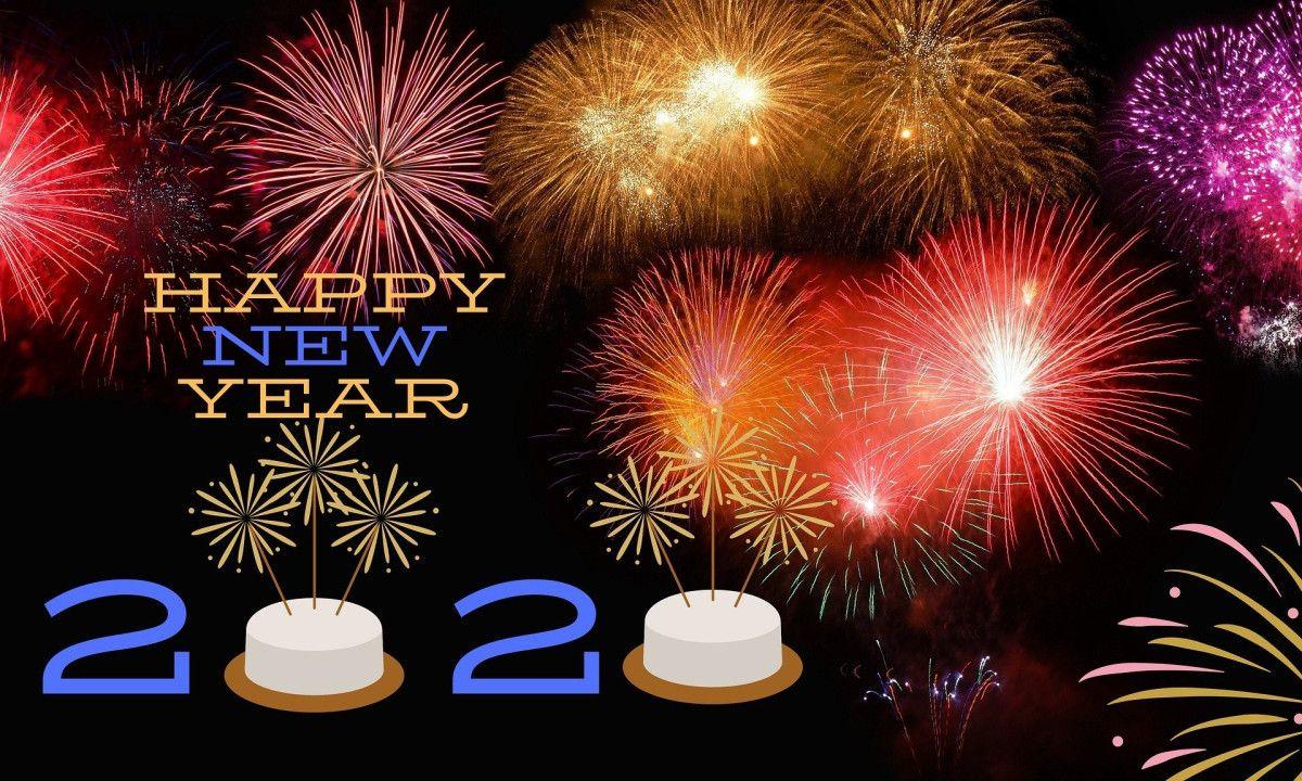 Bonjour 2020! Au revoir 2019 in 2020 Happy new year