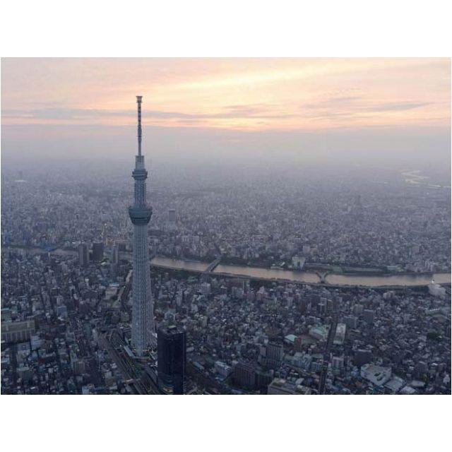 Tokyo Sky Tree, reconhecida como a torre mais alta do mundo em 2011 pelo Guinness, o livro dos recordes, com 634 metros de altura. Tóquio, Japão.