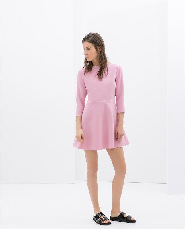 17 vestidos de Zara que se agotarán por primavera | Vestido rosado ...