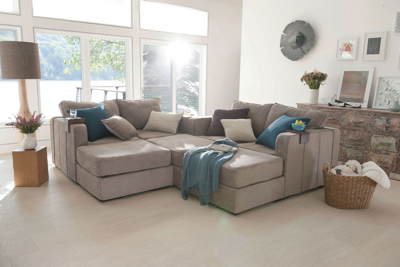 Large Modular Sectional Couch 7 Seats 8 Sides