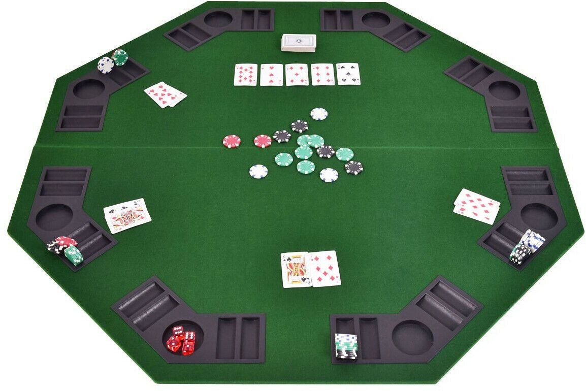 48 8 Players Octagon Foldable Poker Table Top Poker Table Top Poker Table Folding Poker Table