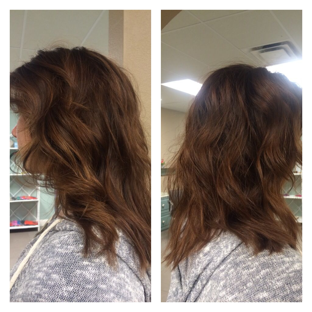 Dimensional Brunette Hair Color With Honey And Copper Hues With