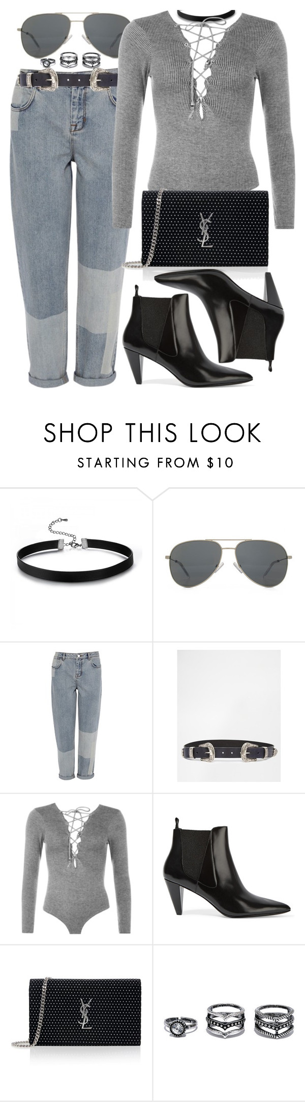 """Untitled #2356"" by briarachele ❤ liked on Polyvore featuring Yves Saint Laurent, Karen Millen, ASOS, WearAll, Alexander Wang and LULUS"