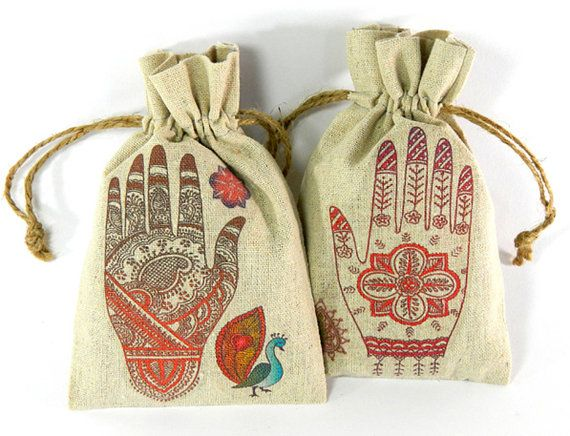 Mehndi Party Bags : Wedding favors mehndi party south asian indian bride shower