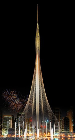 Dubai Creek Harbor Tower | Architect Magazine | Santiago Calatrava, Dubai, United Arab Emirates, Cultural, New Construction