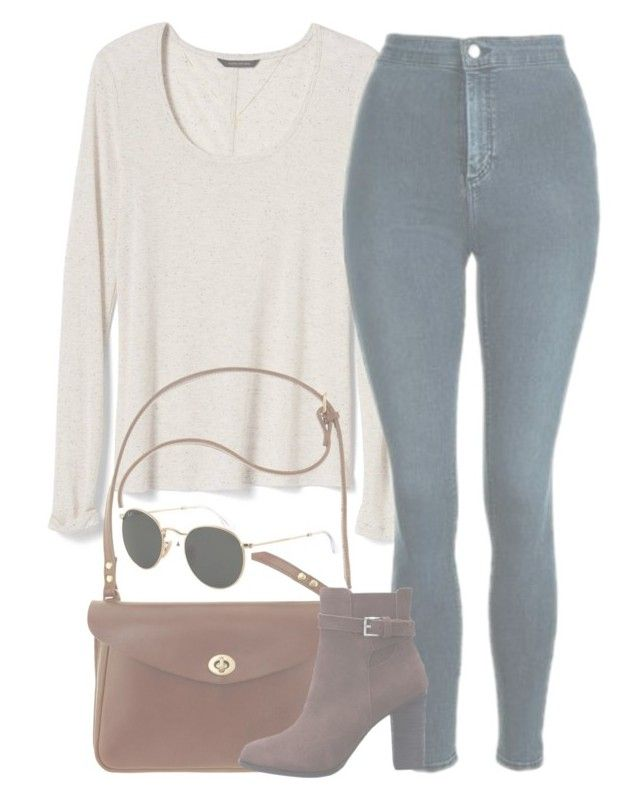 """""""i want the real thing"""" by aurorasrose ❤ liked on Polyvore featuring Banana Republic, Topshop, Mimi Berry and Ray-Ban"""