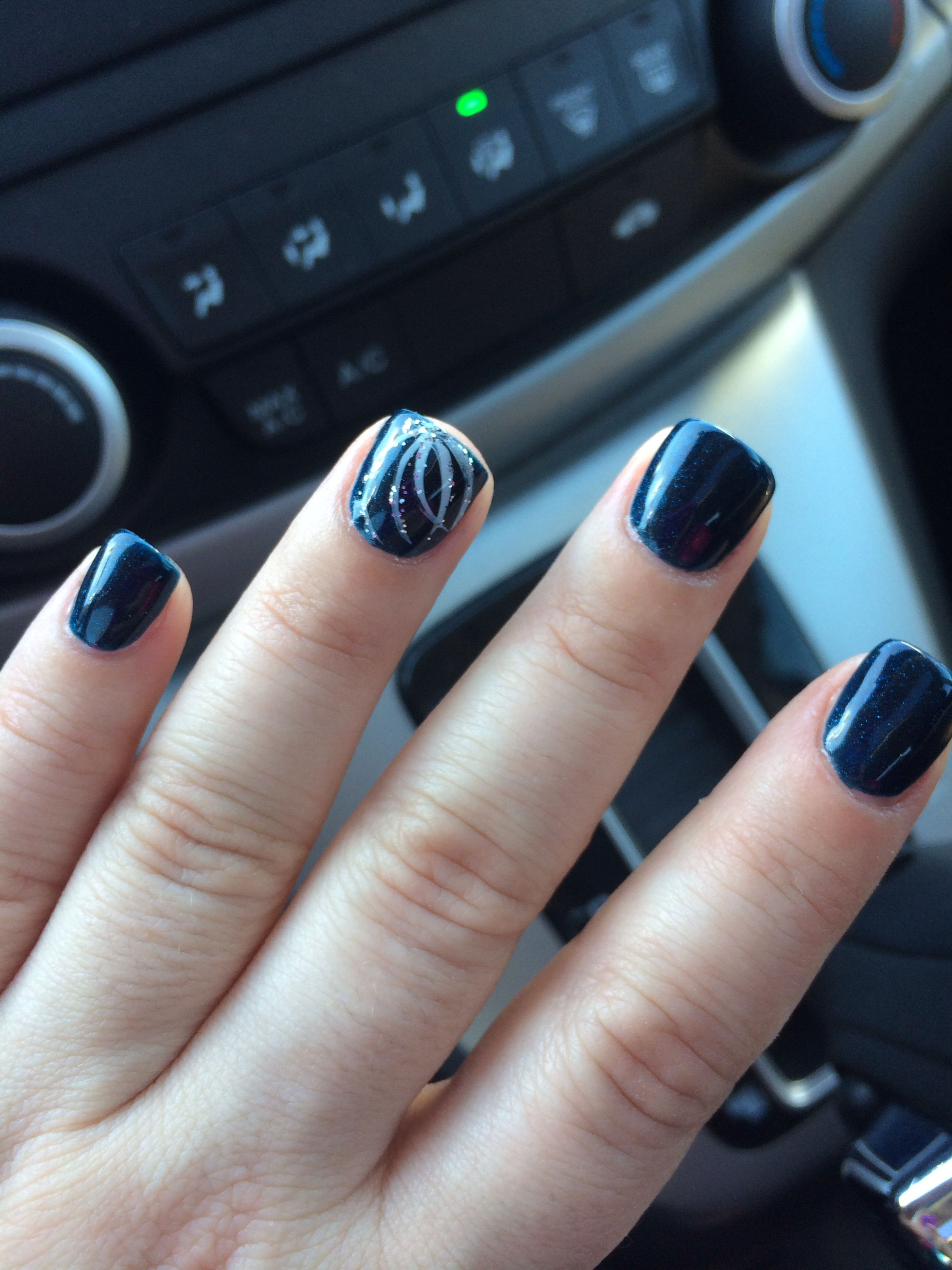 Modern Navy Gel Nails Collection - Nail Polish Ideas ...