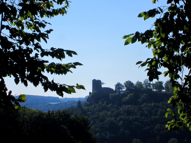 Ruin #Neideck at trail run in #Streitberg #Fränkische Schweiz. #Bavaria #Germany More: http://trampelpfad.net/