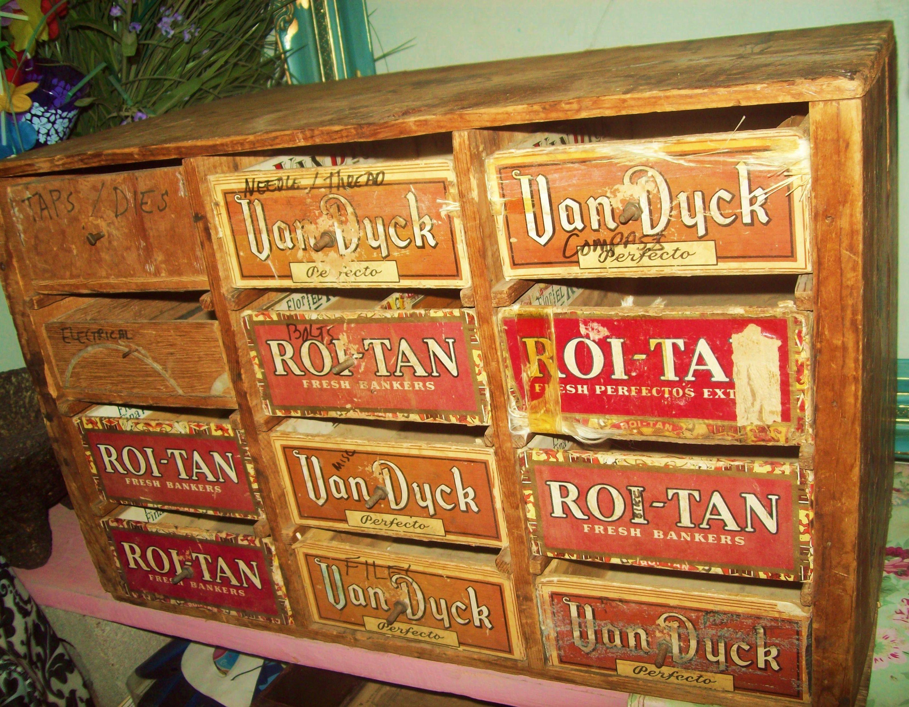 Cigar Box Furniture Storage