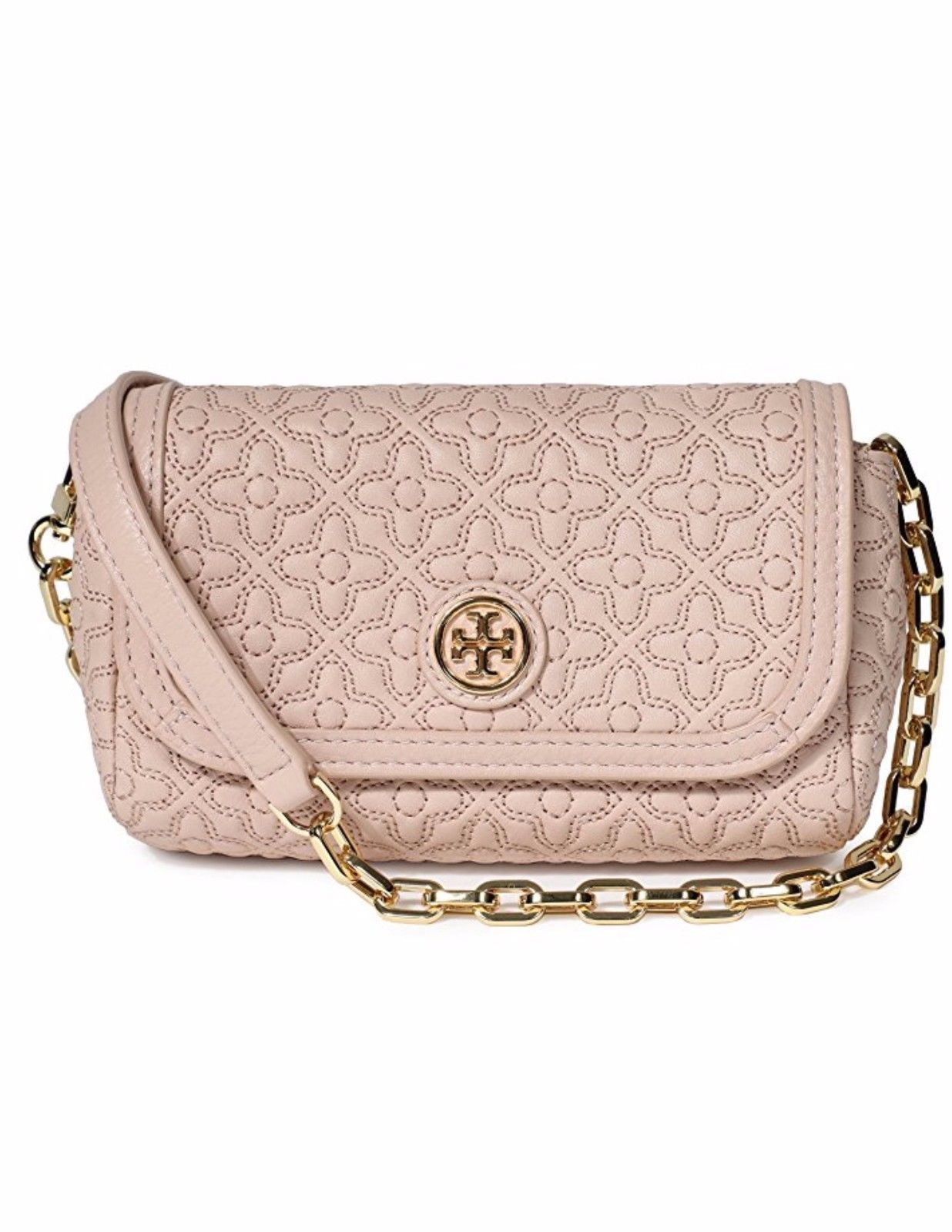 d0793f6bbb NWT Authentic Tory Burch Bryant Quilted Small Leather Crossbody Bag $ 250