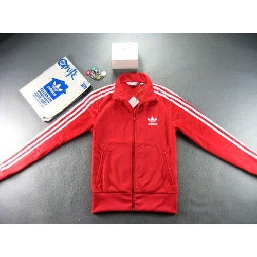 bluza adidas trefoil czerwona