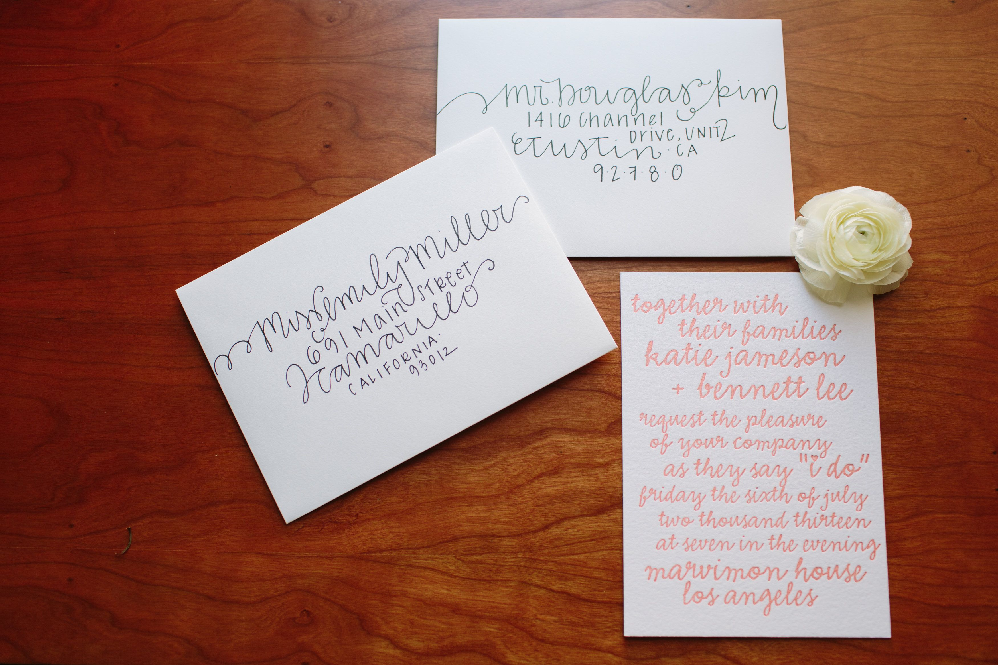DIY Wedding Envelope Addressing Tips Addressing wedding
