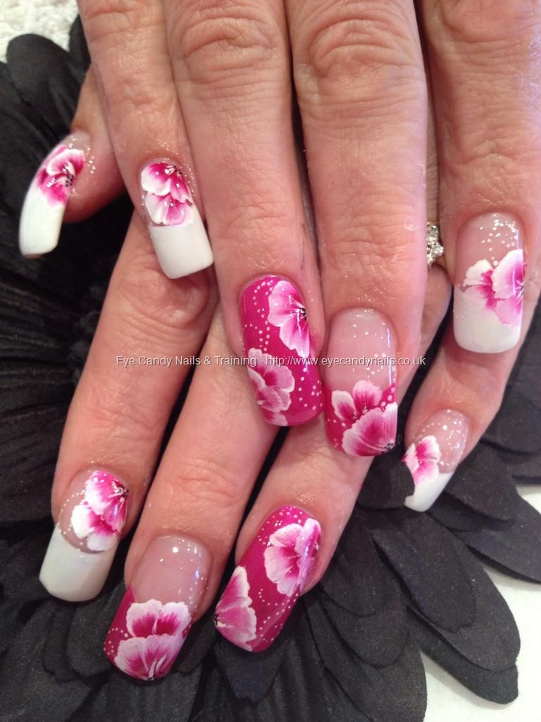 Freehand Nail Art Gallery | candy Nails & Training - Nails Gallery: One stroke freehand nail art ...