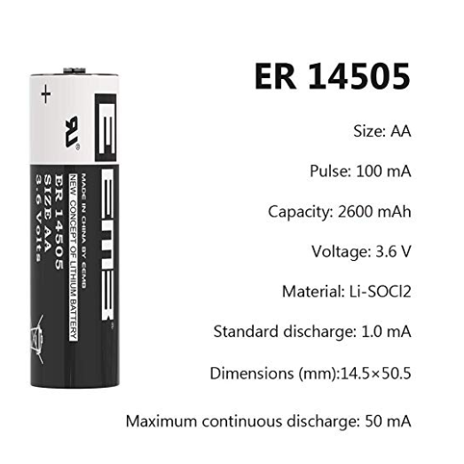 Eemb 3 6v Aa Lithium Battery Er14505 Li Socl2 Thionyl Chloride Battery 2400 Mah Non Rechargeable Used Solar Panels Battery Lithium Battery