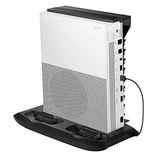 Jadebones Vertical Stand Cooling Fan With Game Discs Storage Tower
