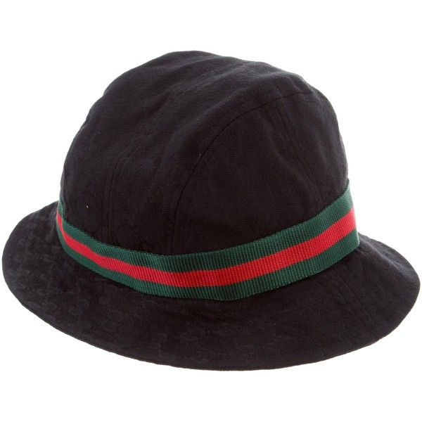 Pre-owned Gucci Web Bucket Hat ( 95) ❤ liked on Polyvore featuring  accessories abc6ae349c6