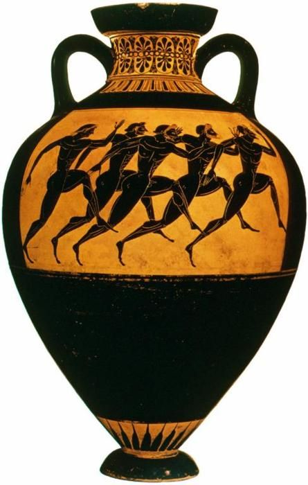 Attic Black Figure Panathenaic Neck Amphora Greece C 530