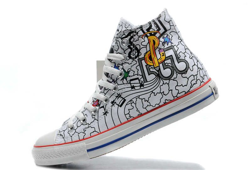 Converse All Star Chuck Taylor Shoes Music Hi top White