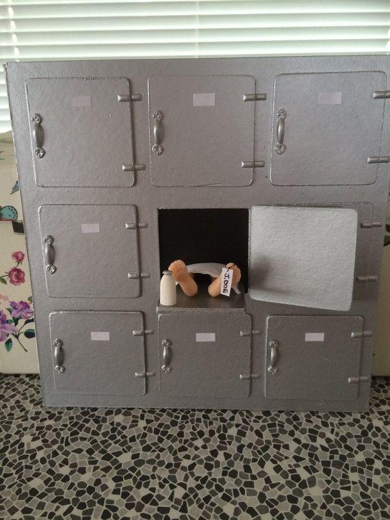 1 12th Scale Miniature Doll House Modern Hospital Mortuary