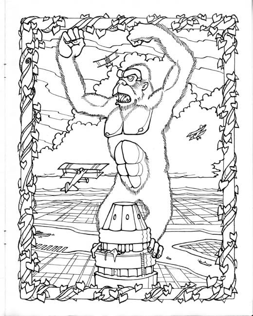 King Kong Coloring Page By Mark Savee King Kong Art Coloring Pages