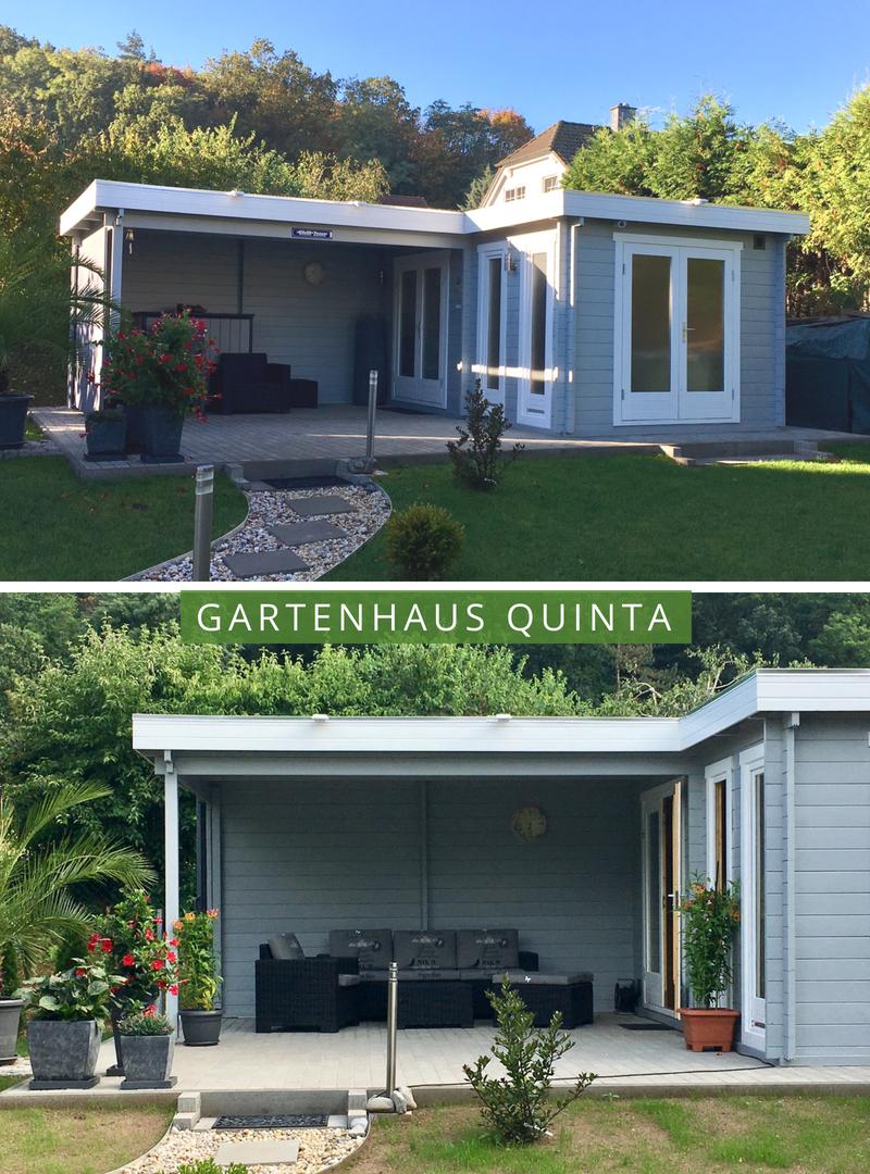 Gartenhaus Flachdach Modern Quinta für gemütliche Stunden