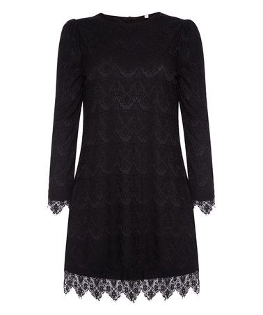 Loving this Black Lace Shift Dress on #zulily! #zulilyfinds