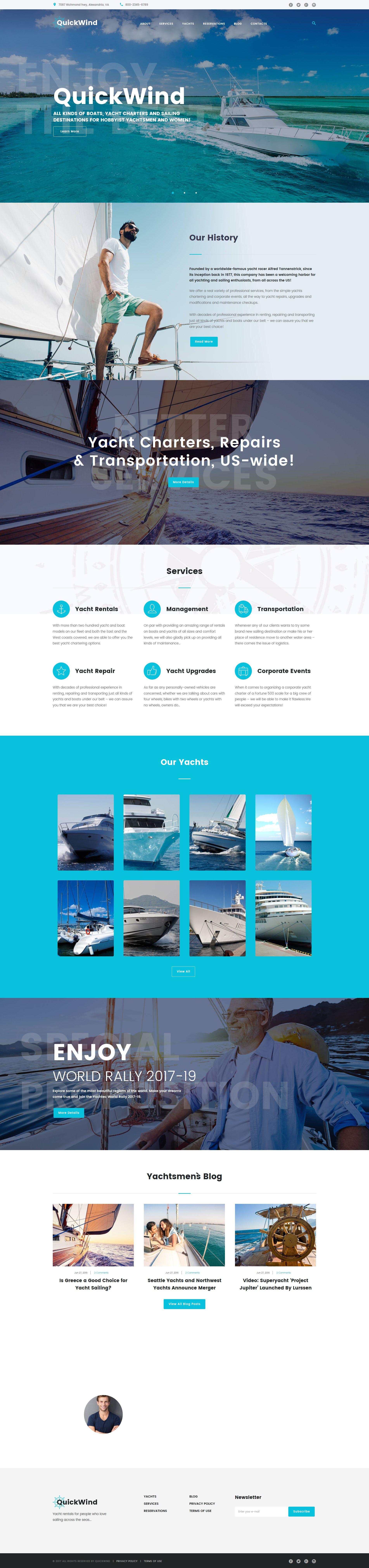 yachting amp voyage charter wordpress theme pinterest