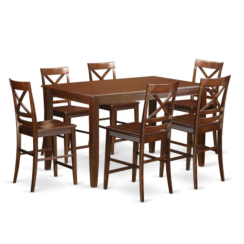 Duqu7Hmahw High Top Table 6Stool 7Piece Counterheight Dining Inspiration High Dining Room Table Design Inspiration
