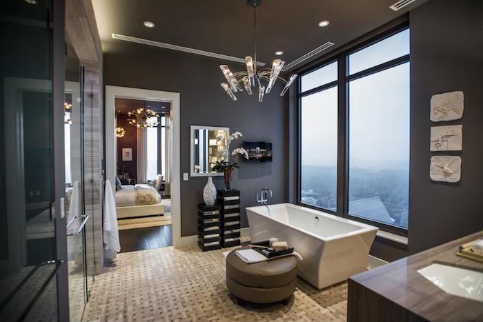Schöne Bäder Fotos schöne bäder in grau eckige freistehende wanne kleines bad