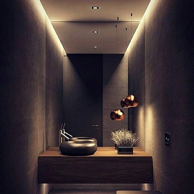 Mood Lighting Ideas From Visualchillout: Current Mood! Bronze & Black! By Acsbathrooms