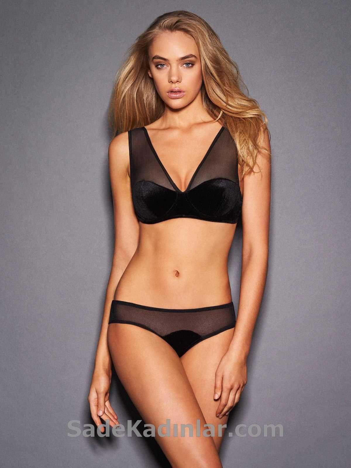 Bayan Ic Giyim Modelleri Siyah Tullu Kadin Ic Giyim Giyim Kadin