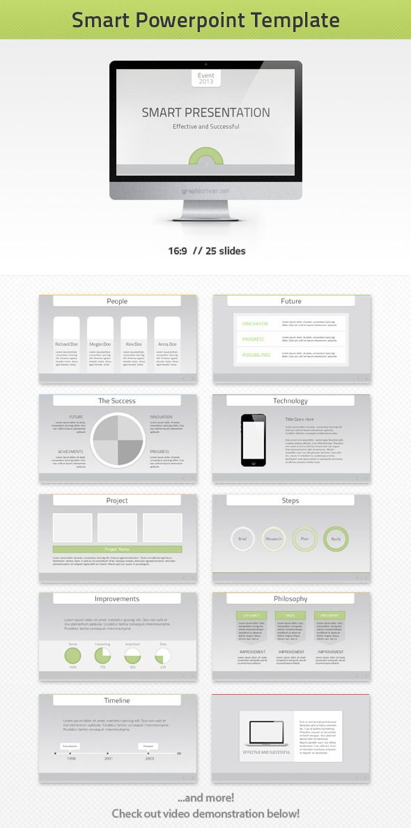 smart powerpoint template | flyer template, Modern powerpoint