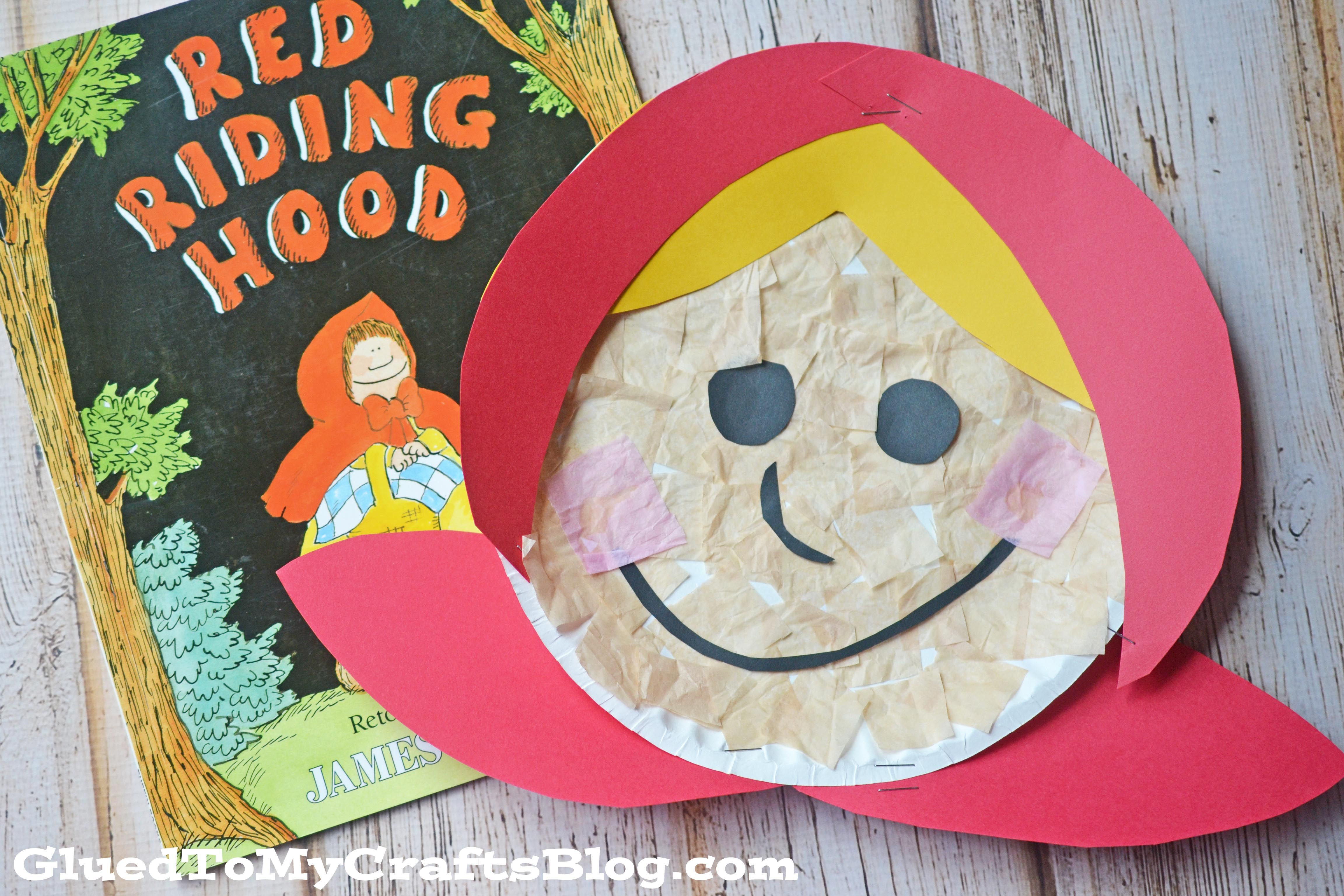 Paper Plate Little Red Riding Hood