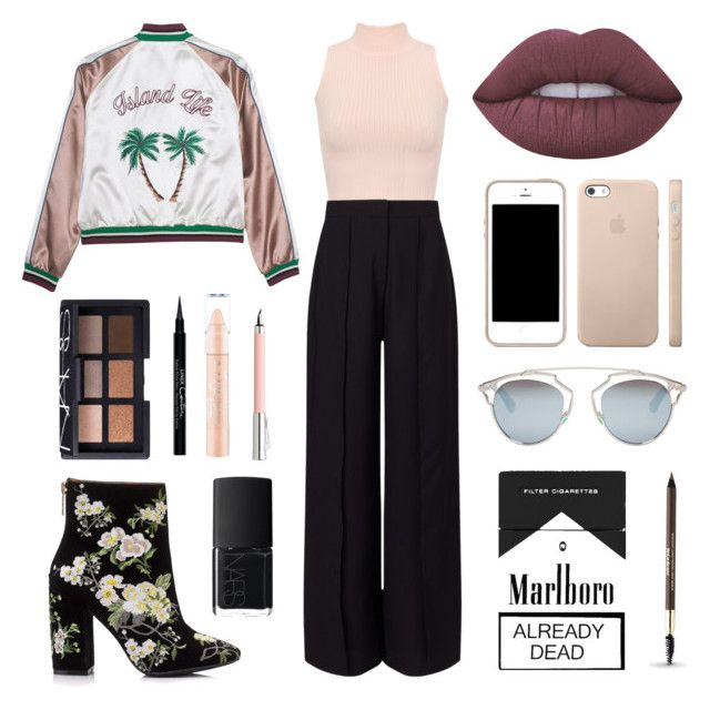 """""""🍂Fashionable look for autumn🍂"""" by sadbabygirl04 ❤ liked on Polyvore featuring WearAll, Miss Selfridge, Lime Crime, Faber-Castell, NARS Cosmetics, Christian Dior, Givenchy and Yves Saint Laurent"""