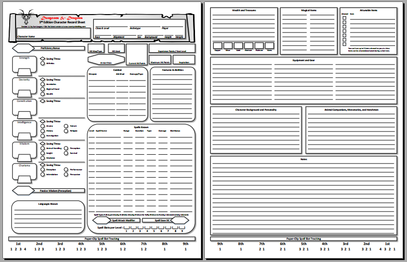 Form Fillable Character Sheet Dnd Character Sheet 5e Character Sheet Pdf Character Sheet