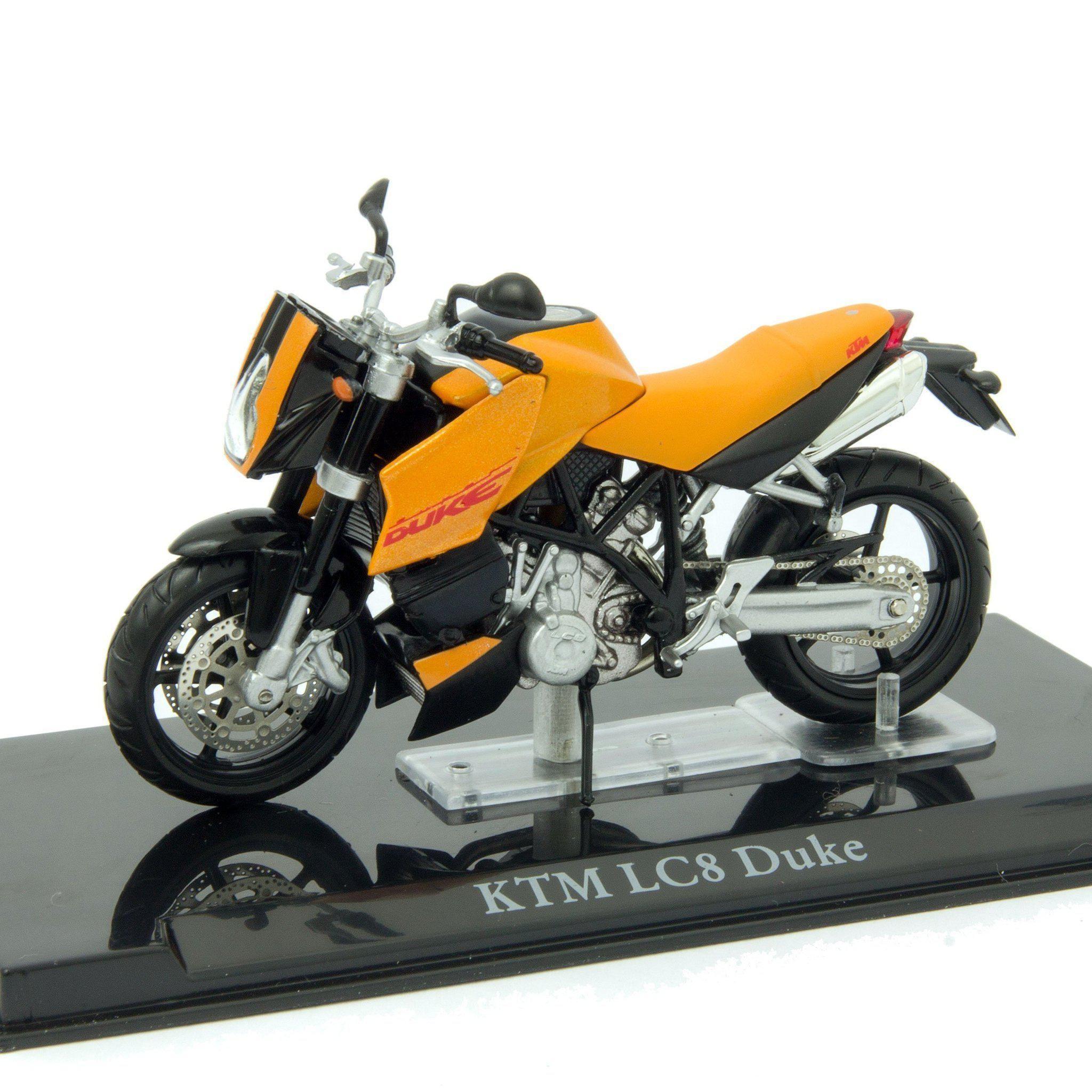Ktm Lc8 Duke Scale Model Motorbike 1 24 Atlas Editions Motorbike Model Scale Diecast Diecastmodelcentre Scalemodels Motorcycle Model Ktm Scale Models