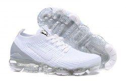 e9c9dae3f88c Nike Air Vapormax Flyknit 2019 Triple White Grey AJ6900-100 Women s Men s  Running Shoes
