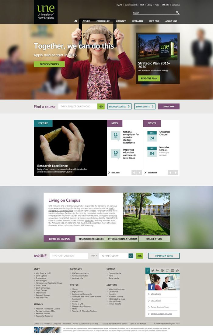 30 University And College Websites Inspiration Designyep Website Design Website Design Inspiration Colleges And Universities