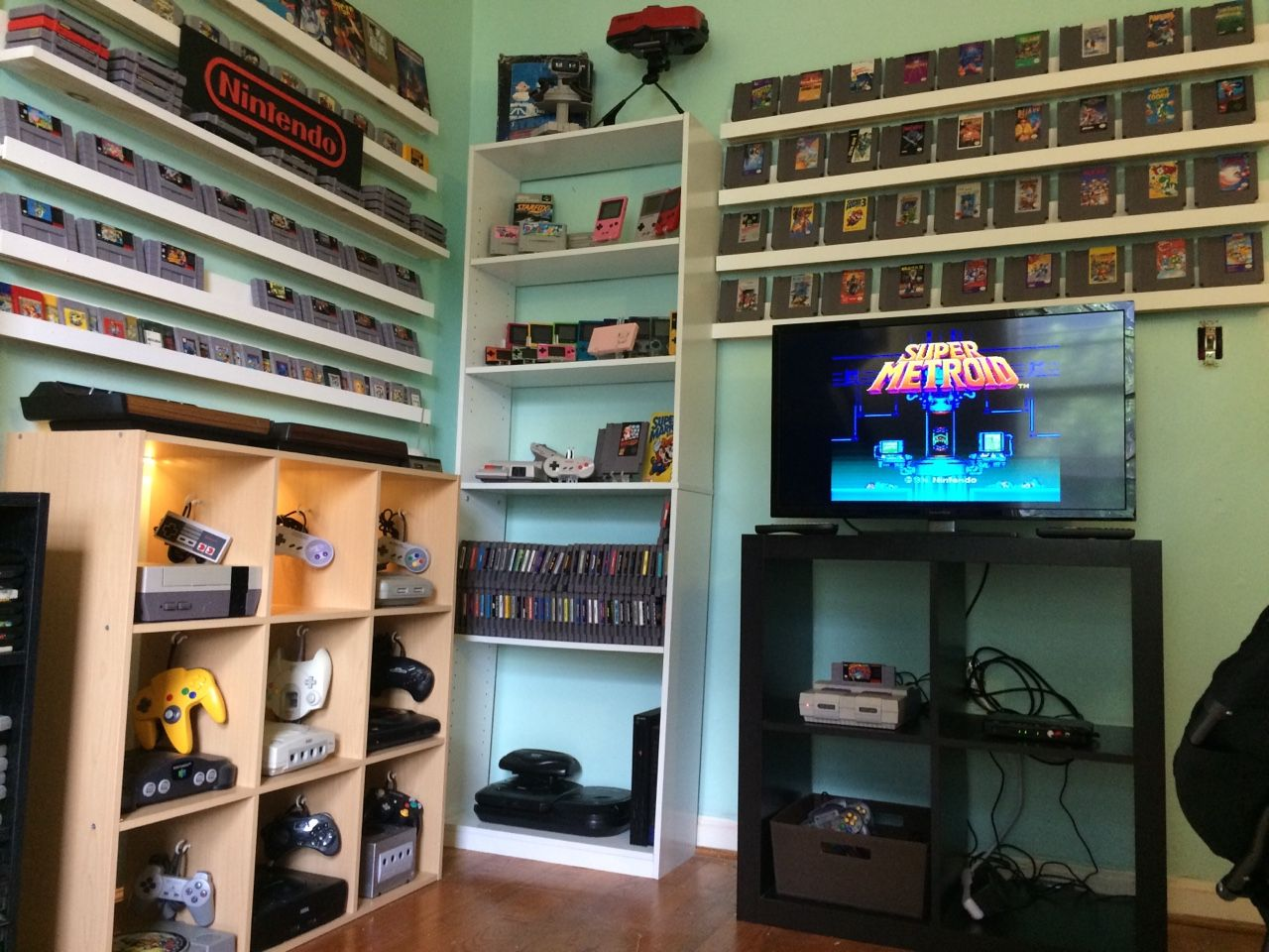 Retro Game Room Version 2 I Needed To Patch The Walls And Paint So