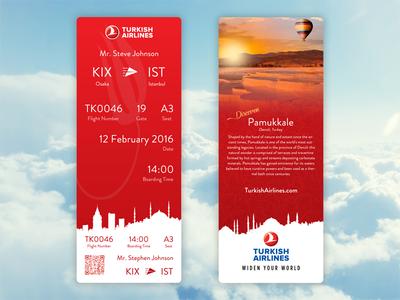 Boarding Pass Turkish Airlines Turkish Airlines Airlines Airlines Branding