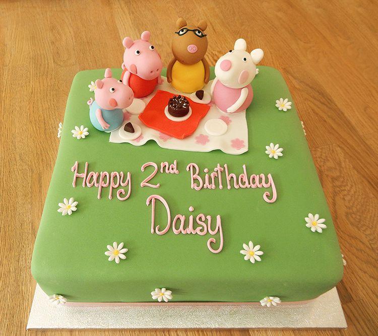 Peppa Pig Picnic Cake Cakes Pinterest Picnic Cake Picnics - Owl percy pig birthday cake