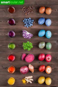 Leuchtende Ostereier - vielfältiger mit den Farben der Natur
