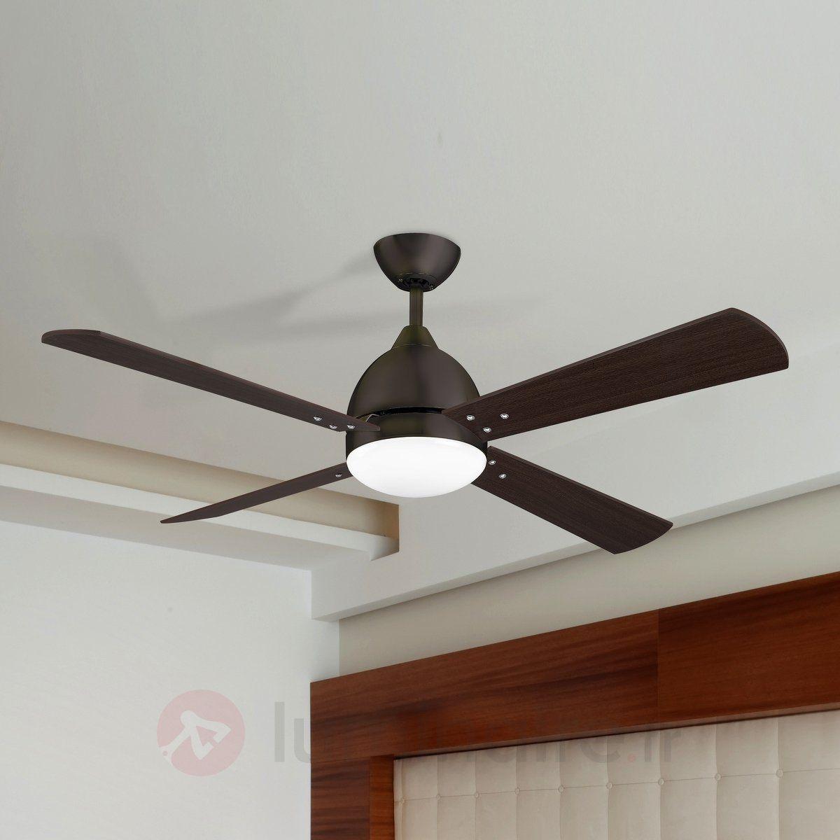 ventilateur de plafond borneo moderne brun - Ventilateur De Plafond Pour Chambre