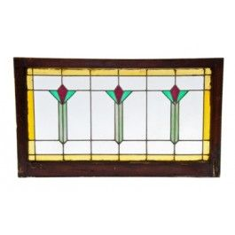 Picture Is Original 1920 Craftsman Glass Transom Window