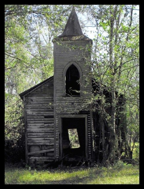 Abandoned Church taken in Chackbay Louisiana