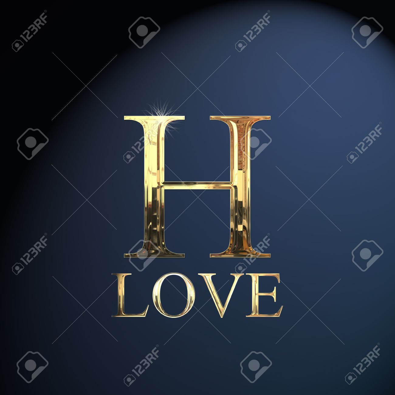 Gold Alphabet Letter H Word Love On A Blue Background Lettering Alphabet Blue Backgrounds Lettering