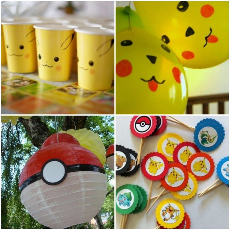 infantiles e ideas para decorar un cumpleaos de pokemon