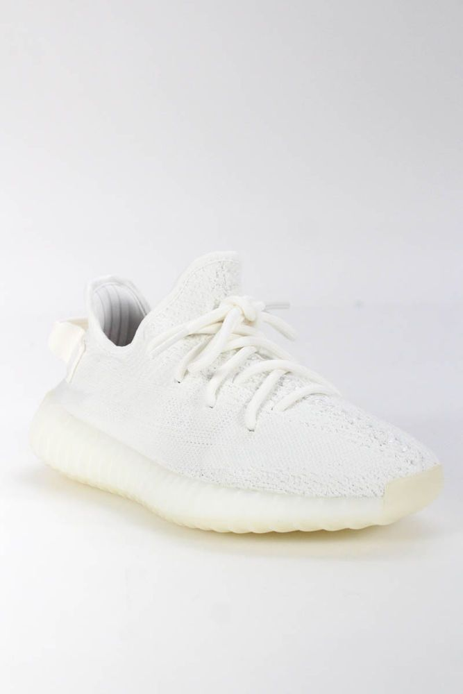 1b76cda282b eBay  Sponsored Yeezy Kids Boys Sneakers Size 4 White Knit 350 V2 Cream New  In Box  345